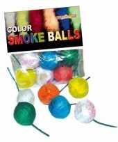 Gekleurde rookballetjes 24x stuks 8 12 sec