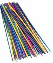 Gekleurde strorietjes 22 cm