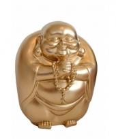 Geld spaarpot boeddha goud 23 x 18 cm