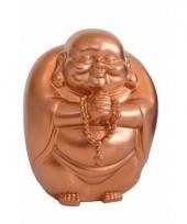 Geld spaarpot boeddha koper 23 x 18 cm