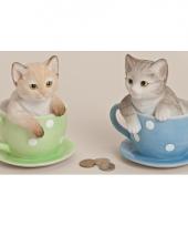 Geld spaarpot kat 17 cm