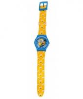 Gele analoge minions horloges voor jongens meisjes