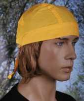 Gele bandana voor dames en heren uni 1
