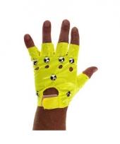 Gele biker handschoenen