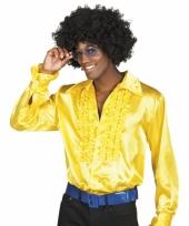 Gele disco blouse voor heren