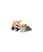 Gele grote graver speelgoedauto