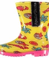 Gele laarzen voor peuters met zeedieren