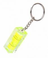Gele mini waterpas aan hanger