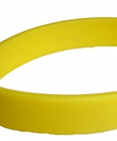Gele polsbandjes rubber