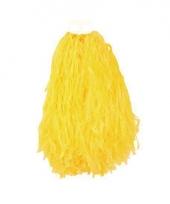 Gele pompoms 28 cm