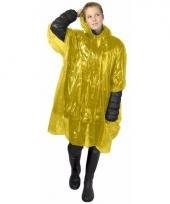 Gele regen ponchos voor volwassenen