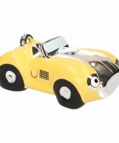 Gele sportwagen cabrio spaarpot