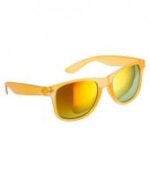 Gele zonnebril met spiegelglas