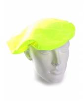 Gele zwarte piet baret voor volwassenen 10077612