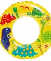 Gele zwemband met dinosaurussen 51 cm