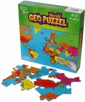Geografie puzzel aarde voor kinderen