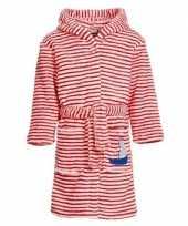 Gestreepte badjas rood wit voor jongens meisjes kinderen