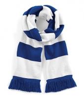 Gestreepte retro sjaal blauw wit