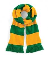 Gestreepte retro sjaal geel groen