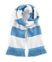 Gestreepte retro sjaal lichtblauw wit