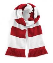 Gestreepte retro sjaal rood wit