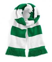 Gestreepte retro sjaal wit groen