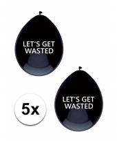 Get wasted feestballonnen 5 stuks