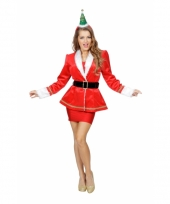 Getailleerd kerstvrouwen jasje