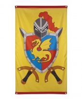 Gevelvlag ridders en draken thema 150 cm