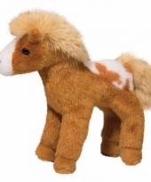 Gevlekte paarden knuffel goud 20 cm