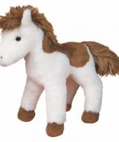 Gevlekte paarden knuffel western lichtbruin 20 cm