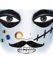 Gezicht glitter plakkers piraat