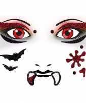 Gezicht glitter plakkers vampier