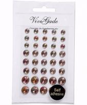 Gezicht juwelen bruine parels 40 stuks