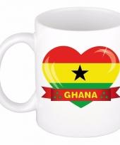 Ghanese vlag hart mok beker 300 ml