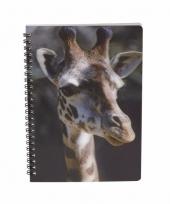 Giraffe schrijfboekje 3d 21cm
