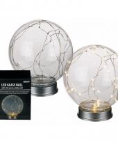 Glasbol lamp 30 lichtjes