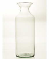 Glazen boeketvaas flesvorm 39 cm