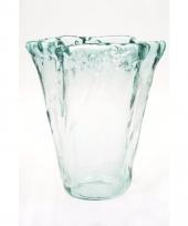 Glazen boeketvaas uitlopend 20 cm