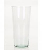 Glazen boeketvaas wijd conisch 25 cm