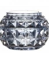 Glazen kaarsenhouder lichtblauw paris 7 4 cm