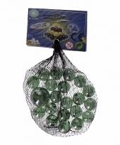 Glazen knikkers groen transparant 21 stuks