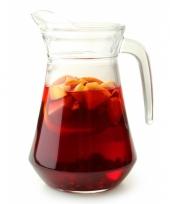 Glazen sangria karaf 1 6 liter