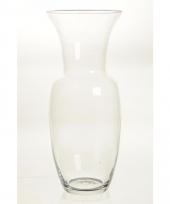 Glazen trompetvormige boeketvaas 40 cm