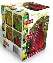 Glazen wespenvallen wespenvangers 13 cm oranje