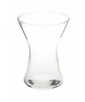 Glazen zandlopervormige boeketvaas 19 cm