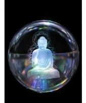 Glazenbol boeddha 8 cm decoratie