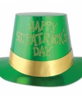 Glimmende groene st patricks dag hoed