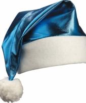 Glimmende kerstmutsen blauw