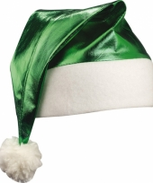 Glimmende kerstmutsen groen